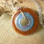 Washer Necklace: Orange and..