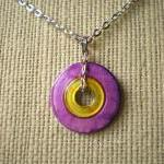 Washer Necklace: Yellow and..