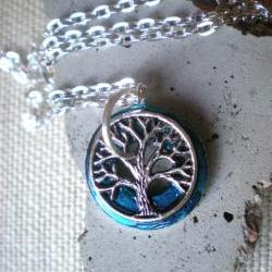 Tree of Life Pendant: Peacock Blue