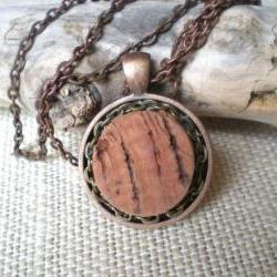 Wine Stained Wine Cork Necklace